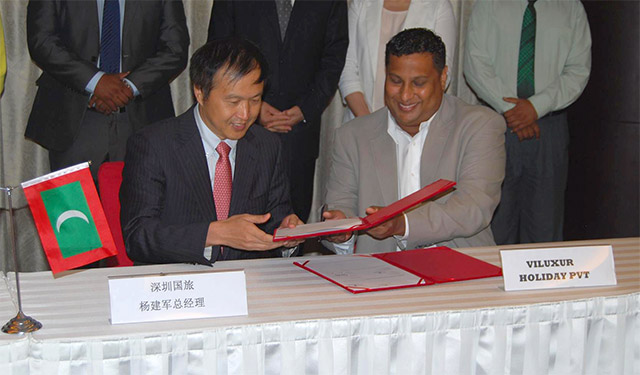 Signing of Chinese agents in Maldives